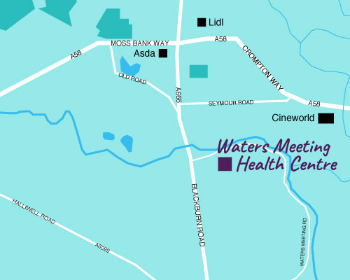 Waters Meeting Health Centre map
