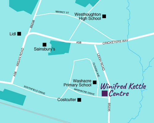 Winifred Kettle Centre map